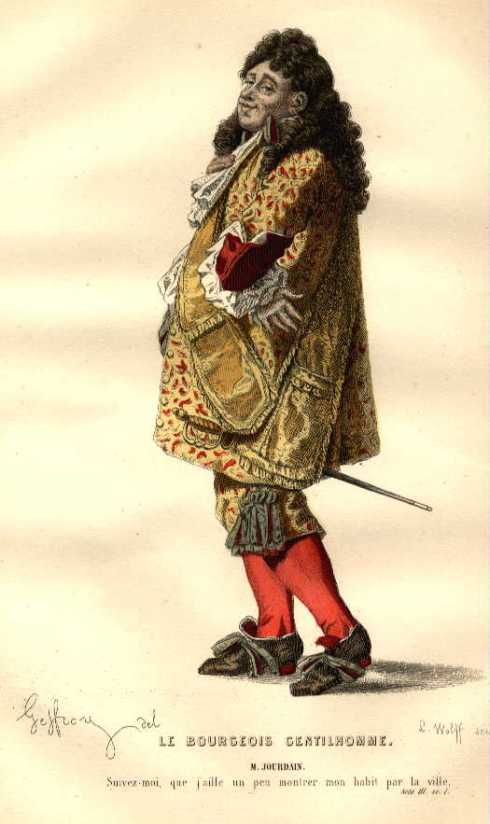 Portada de El burgués gentilhombre de Molière