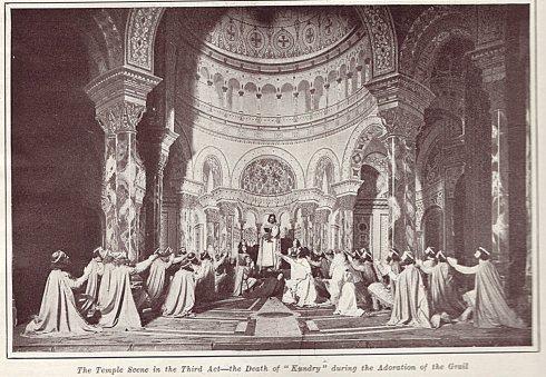 La adoración del Grial del acto III de Parsifal