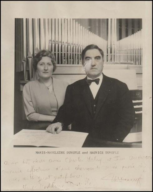 Duruflé con su esposa