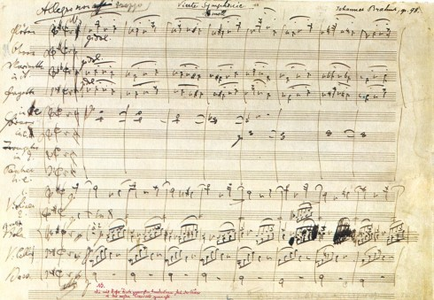 brahms_fourth_symphony_manuscript_first_page